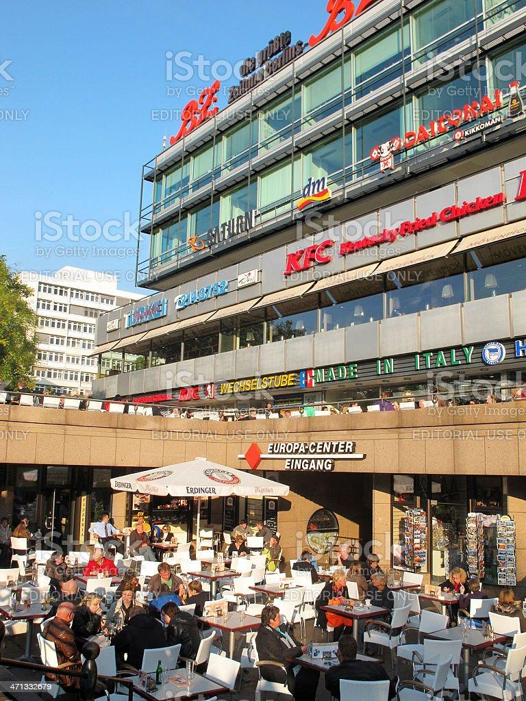 Restaurant at shopping mall Europa Center on Breitscheid Platz Berlin royalty-free stock photo