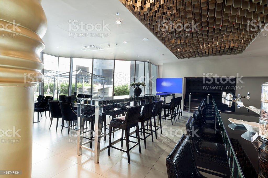 restaurant bar im hotel, Innenansicht der lobby – Foto
