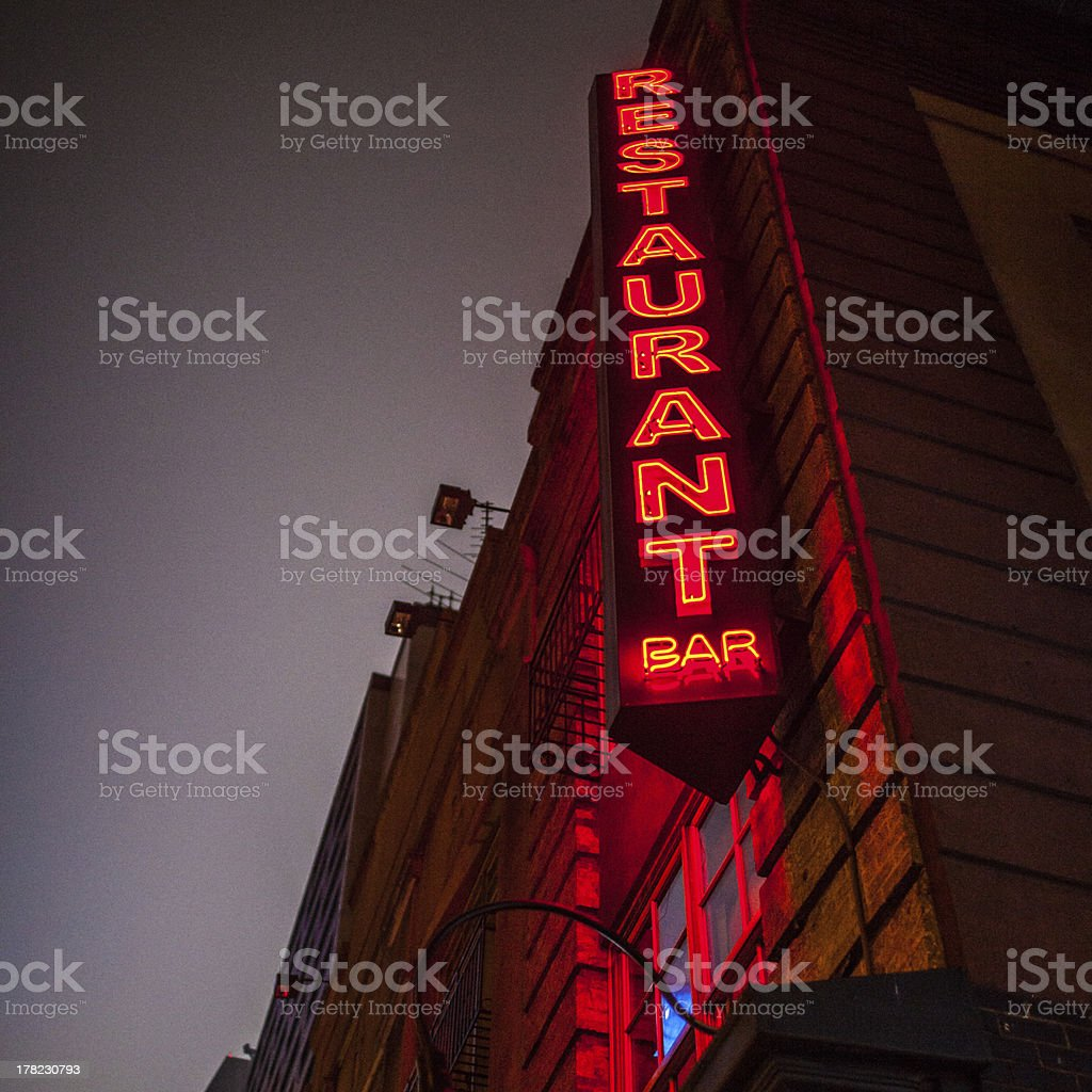 Restaurant Bar sign stock photo