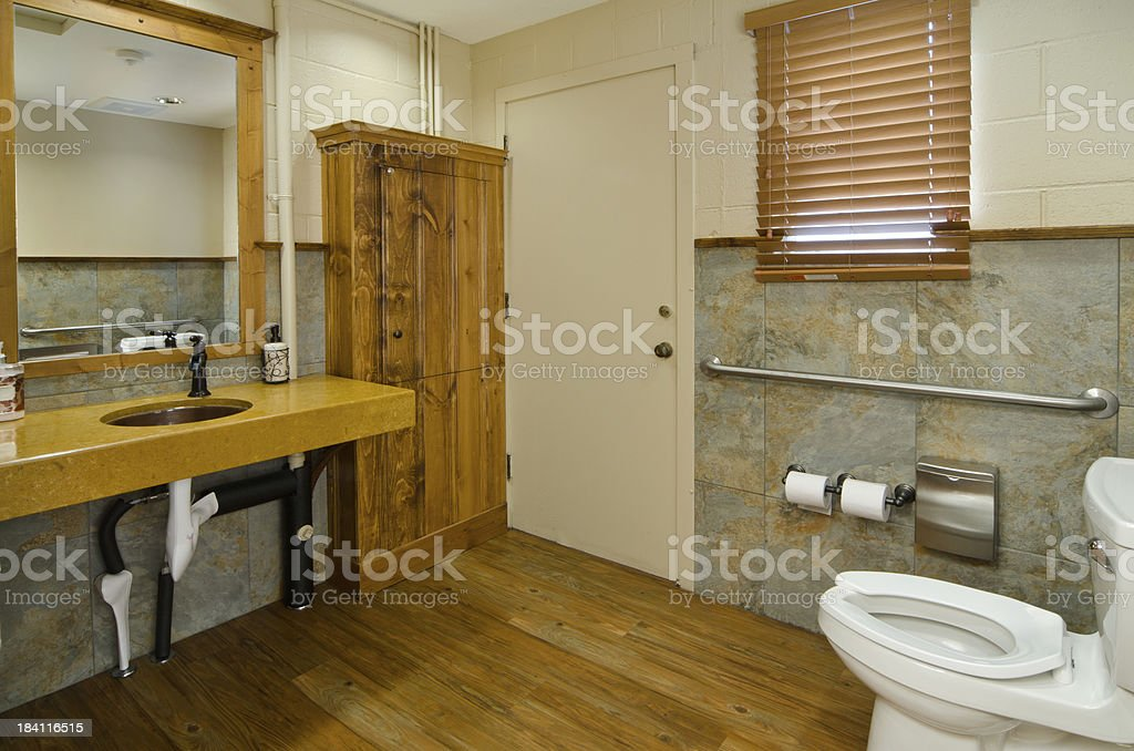 Restaurant Bathroom For Handicap Stock Photo & More Pictures of ...