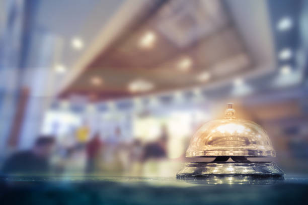 Restaurant bell stock photo