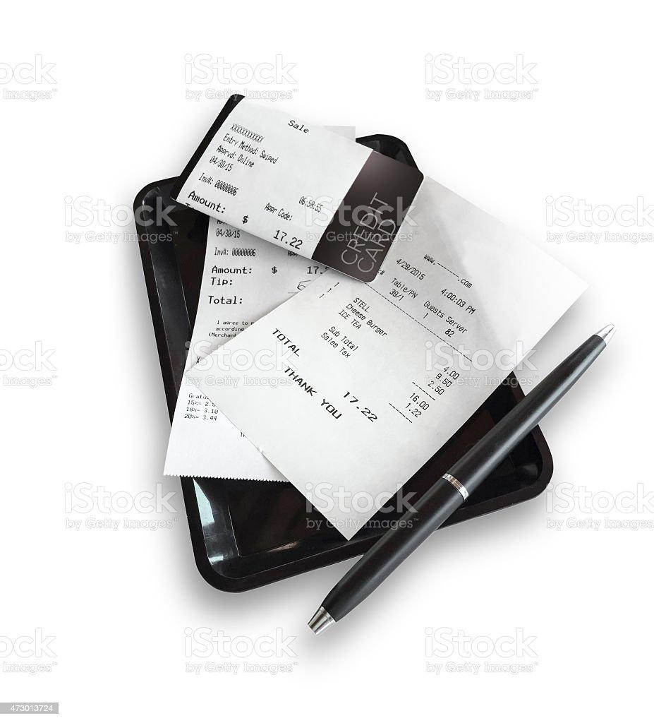 Restaurant Bill stock photo