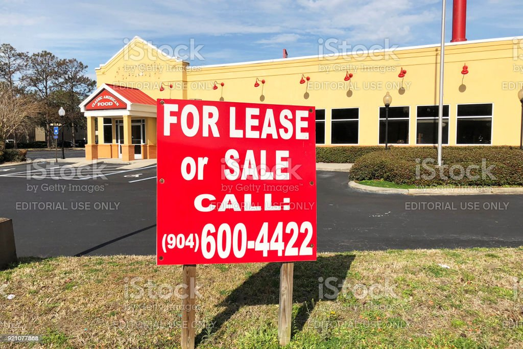 Restaurant building for sale stock photo