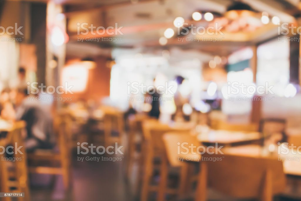 Restaurant Cafe Or Coffee Shop Interior With People Abstract Blur Background Stock Photo Download Image Now Istock