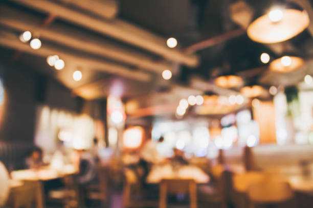 Restaurant cafe or coffee shop interior with people abstract blur background Restaurant cafe or coffee shop interior with people abstract defocused blur background thailand mall stock pictures, royalty-free photos & images