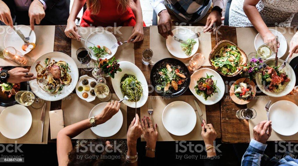 上品なライフ スタイル予約コンセプトを低温のレストラン - お祝いのロイヤリティフリーストックフォト