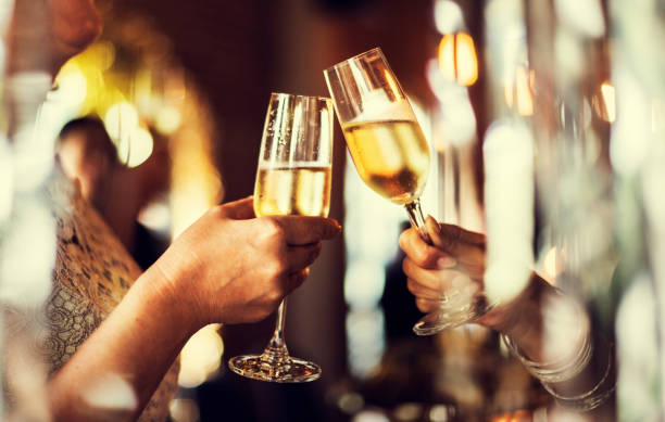 restaurant chilling out classy lifestyle reserved concept - champagne stock pictures, royalty-free photos & images