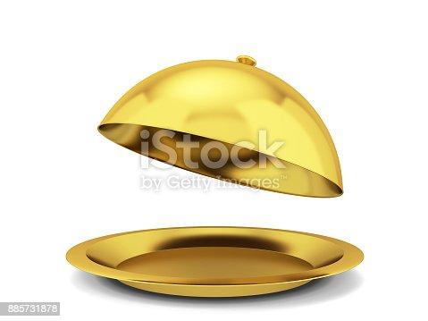 istock Restaurant cloche plate 885731878
