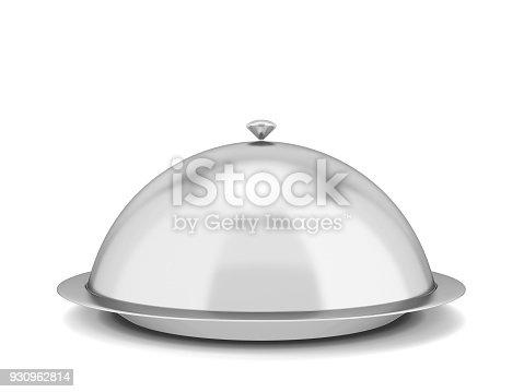 istock Restaurant cloche plate 930962814