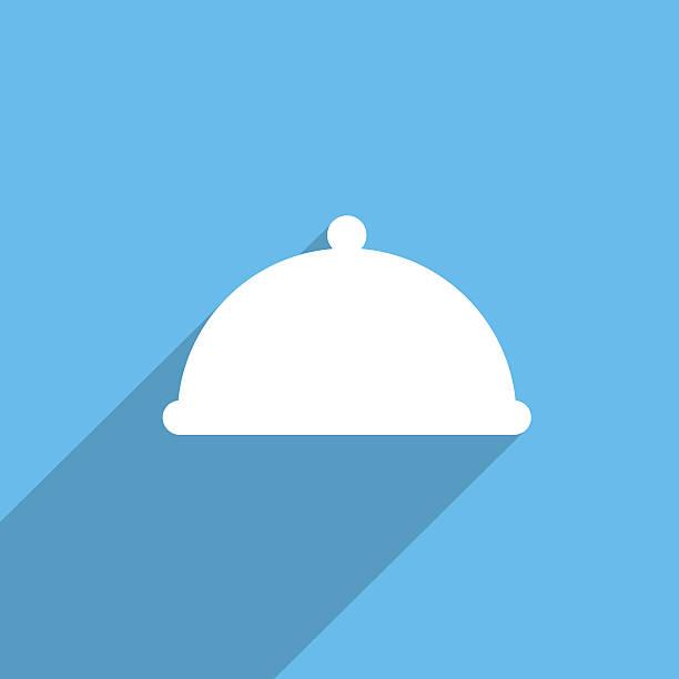 topfhut web icon restaurant - chrome menü stock-fotos und bilder