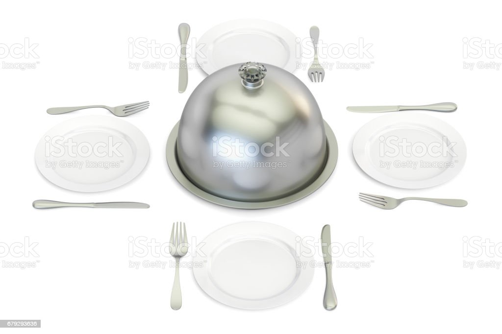 restaurant cloche with plates around 3D rendering royalty-free stock photo  sc 1 st  iStock & Restaurant Cloche With Plates Around 3d Rendering Stock Photo u0026 More ...