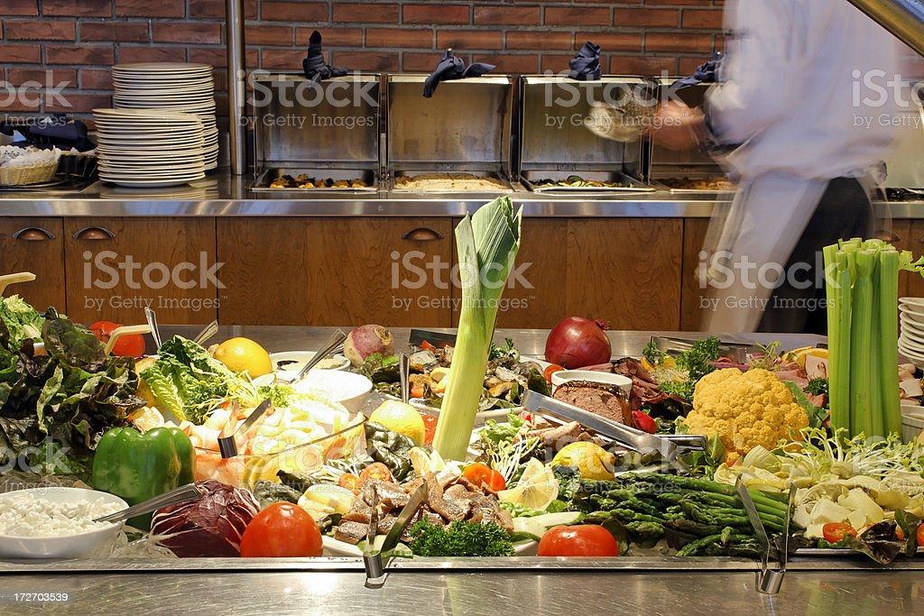 Restaurant cold buffet stock photo