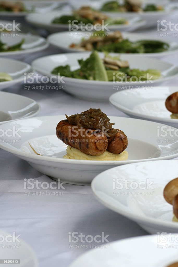 Restaurant covers royalty-free stock photo