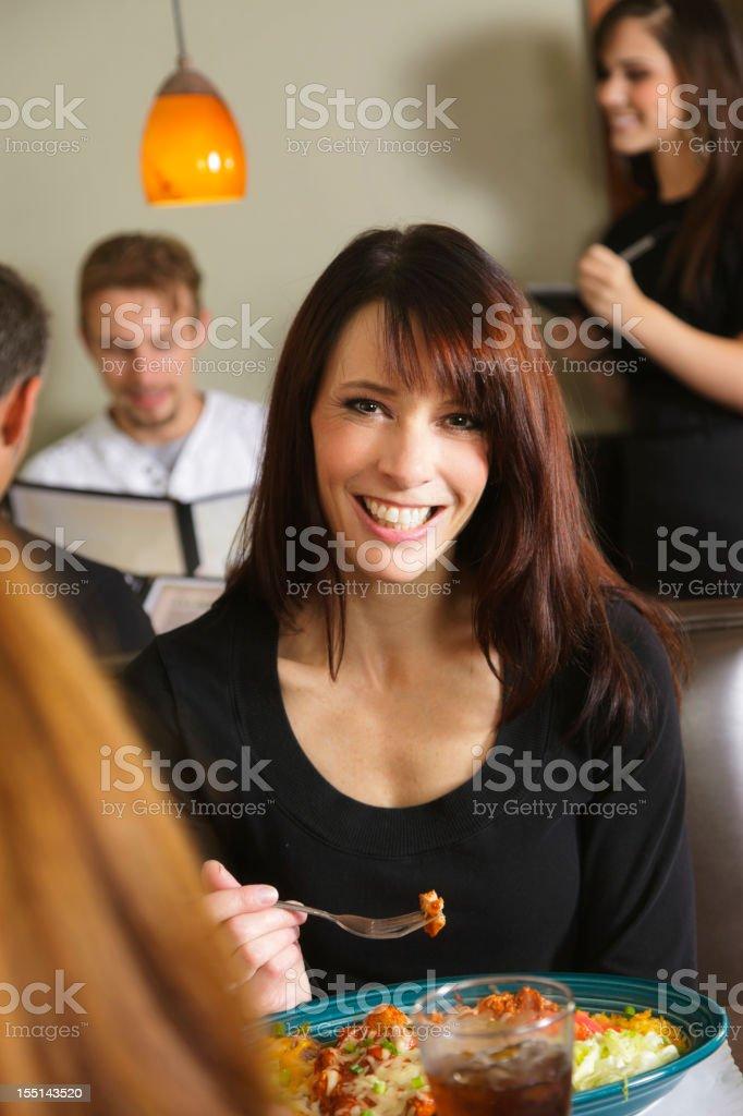 Restaurant Customer stock photo