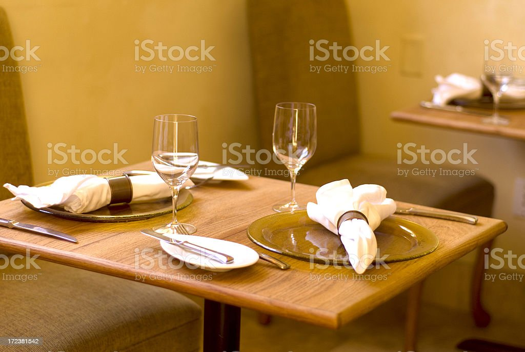 Restaurant Dining Table For Two Place Settings Stock Photo IStock - Table for two restaurant