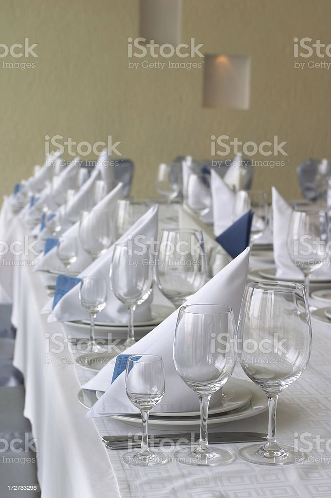 Restaurant dining table royalty-free stock photo