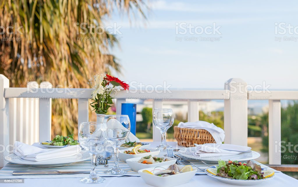 table in a restaurant ready for service dining