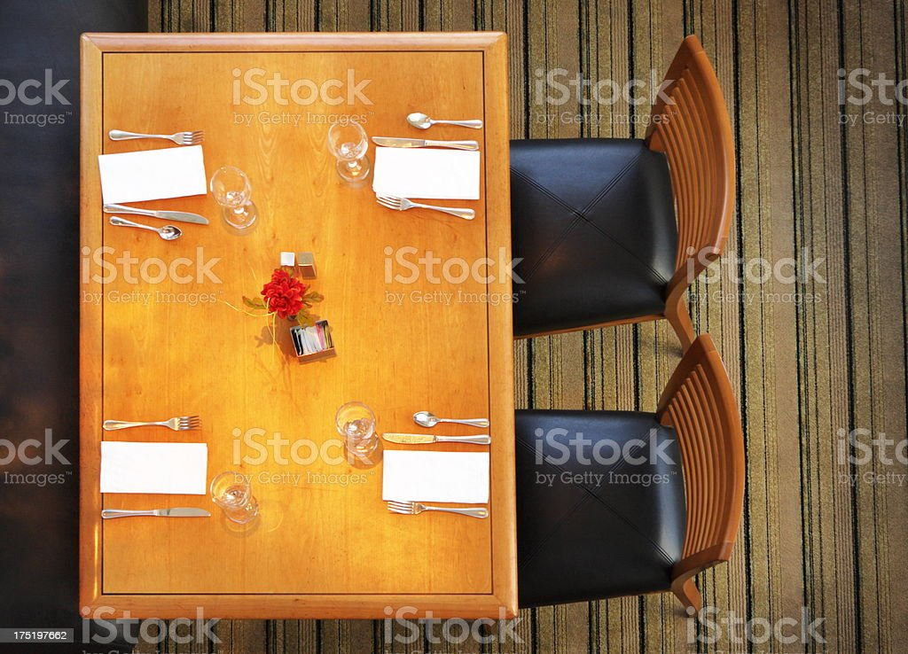 Restaurant Dining Table Place Setting stock photo