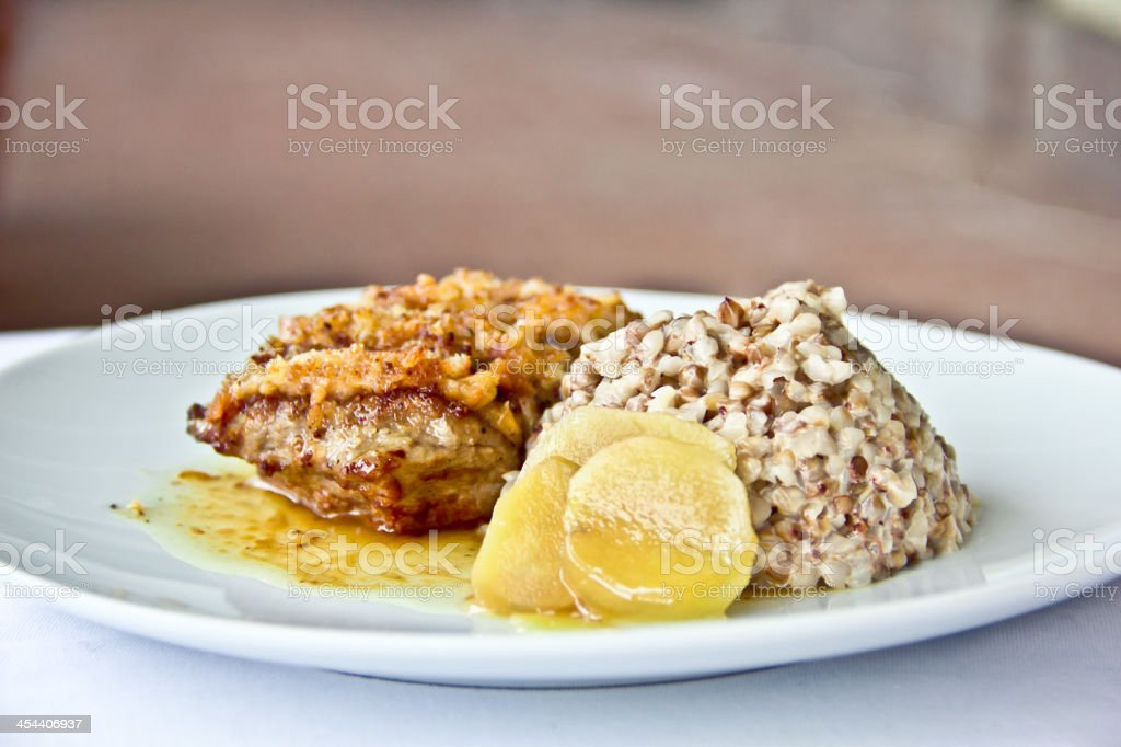 restaurant dish, meat medalions royalty-free stock photo