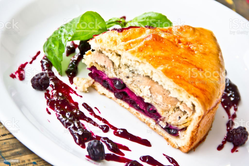 restaurant dish,chicken pie royalty-free stock photo