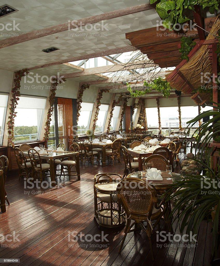 restaurant empty royalty-free stock photo