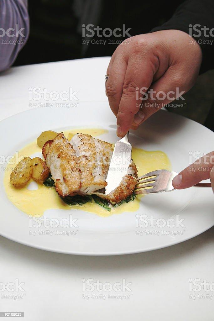 restaurant, fish dish royalty-free stock photo