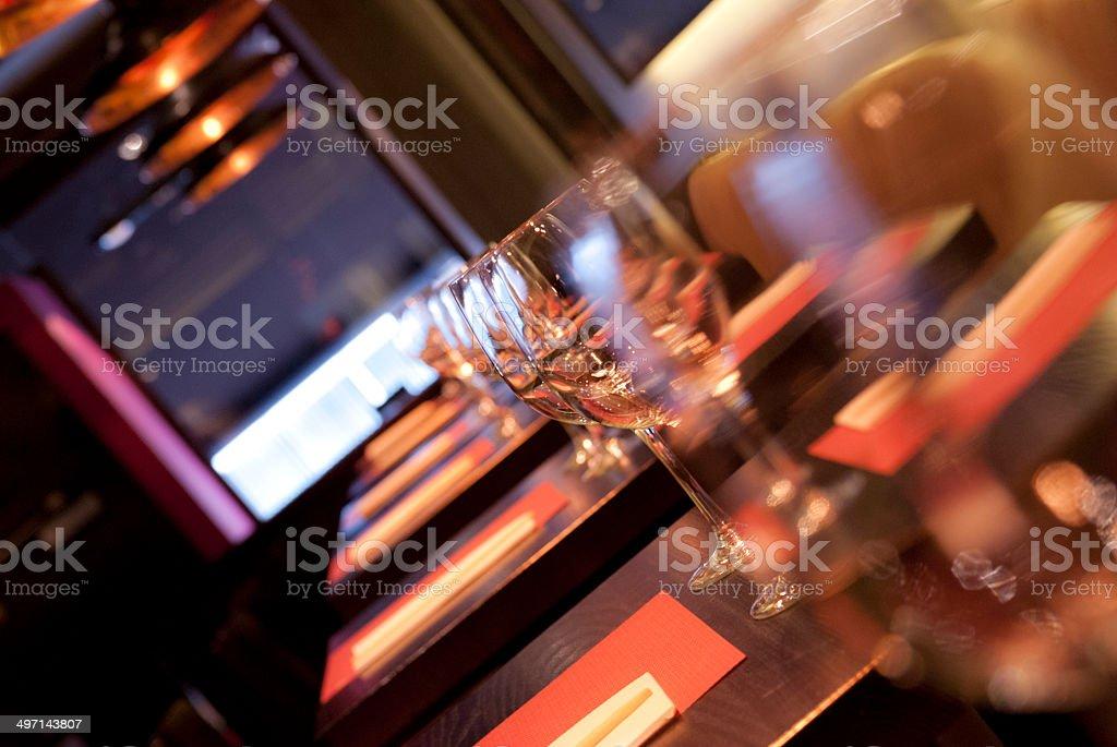 Restaurant Floor. stock photo