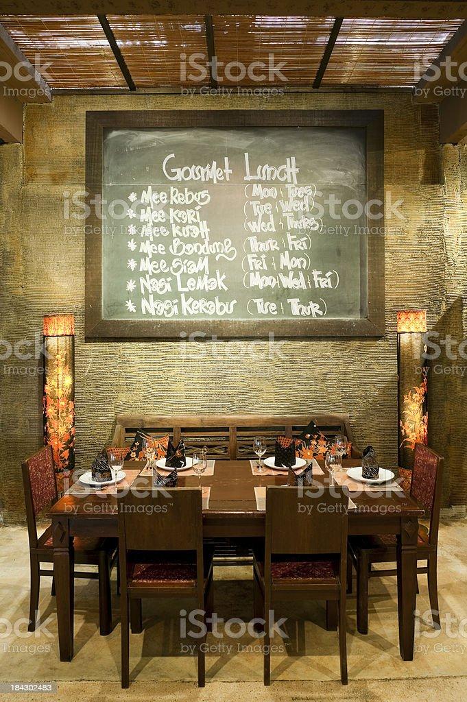 restaurant food and drink establishment kuala lumpur malaysia menu royalty-free stock photo