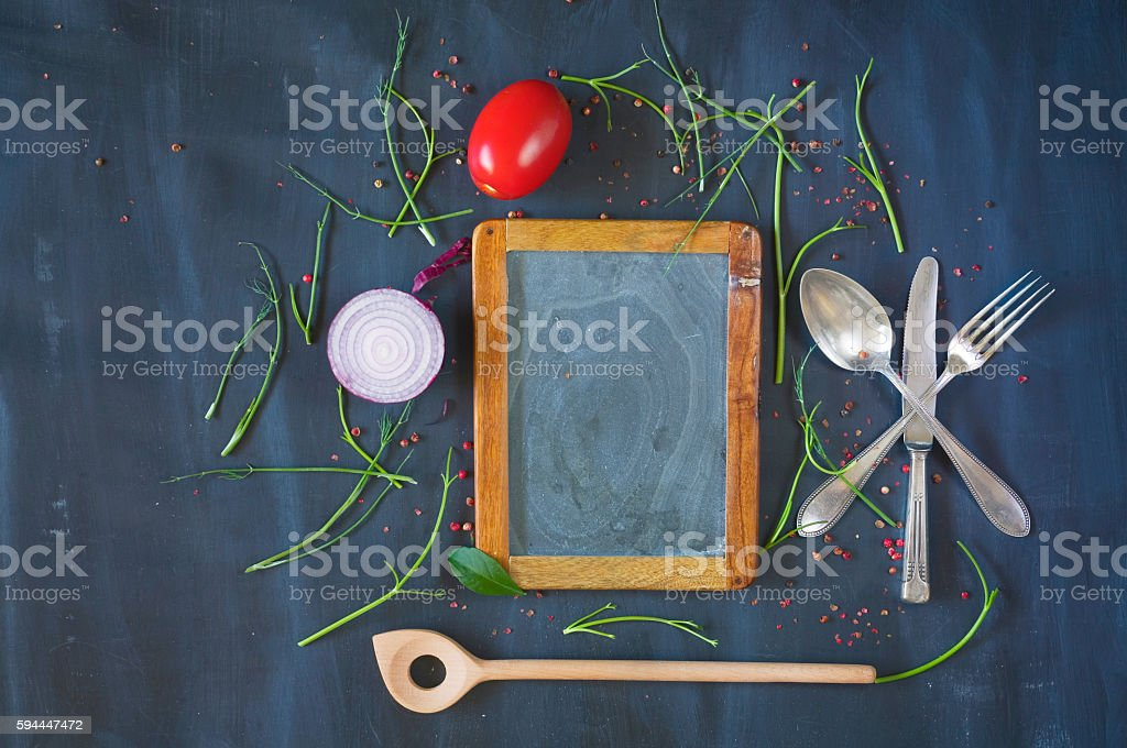 Restaurant food menu stock photo