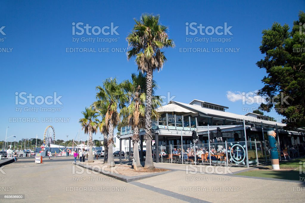 Restaurant - Geelong Waterfront stock photo