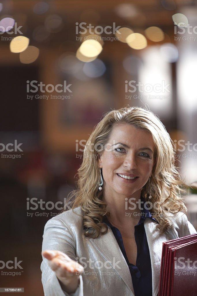 Restaurante camarera - foto de stock
