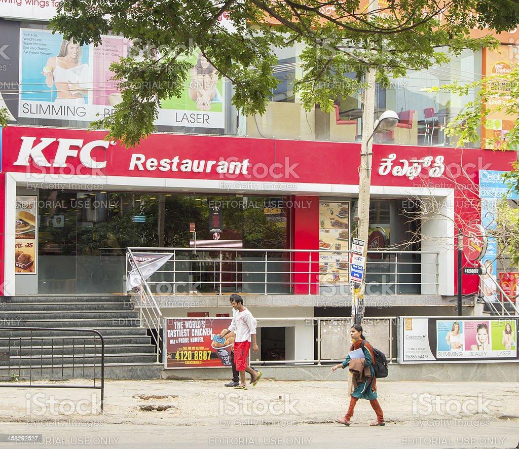 KFC restaurant in Bangalore royalty-free stock photo