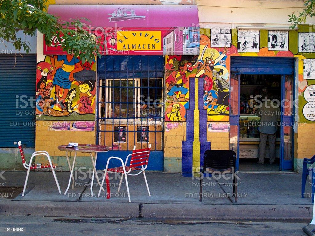Restaurante Caminito, bairro La Boca, em Buenos Aires, Argentina foto de stock royalty-free