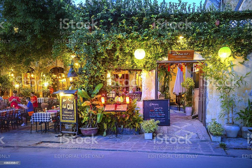 Restaurant in Hoi An, Vietnam royalty-free stock photo