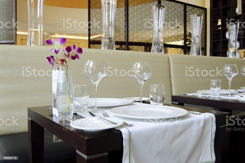Restaurant in luxury hotel, Dubai, UAE royalty-free stock photo