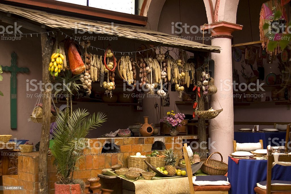 Restaurant in Mexico royalty-free stock photo