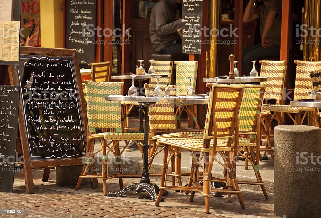 Restaurant in Paris royalty-free stock photo
