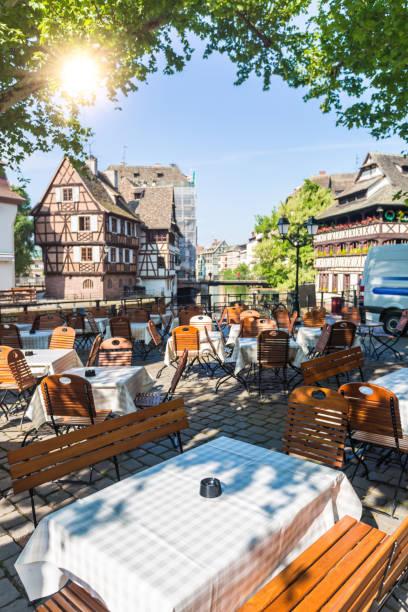 Restaurant in Petite France in Straßburg – Foto