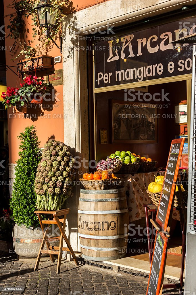 Restaurant in Rome, Italy stock photo