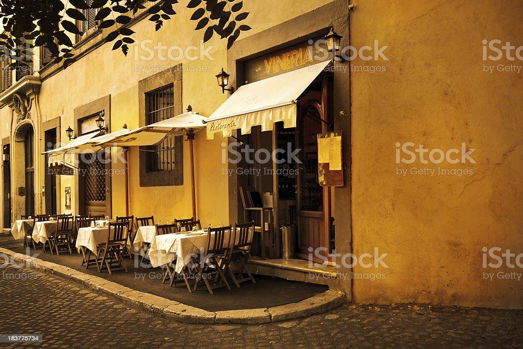 Restaurant in Rome stock photo