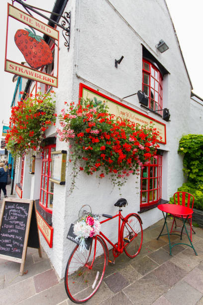 Restaurant in the picturesque Lake District town of Keswick, UK stock photo