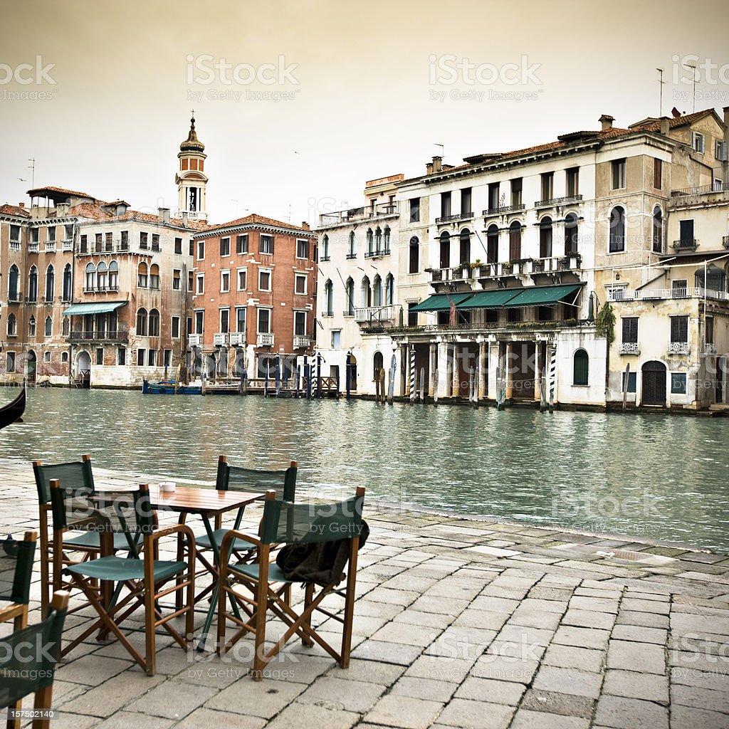 Restaurant in Venice royalty-free stock photo