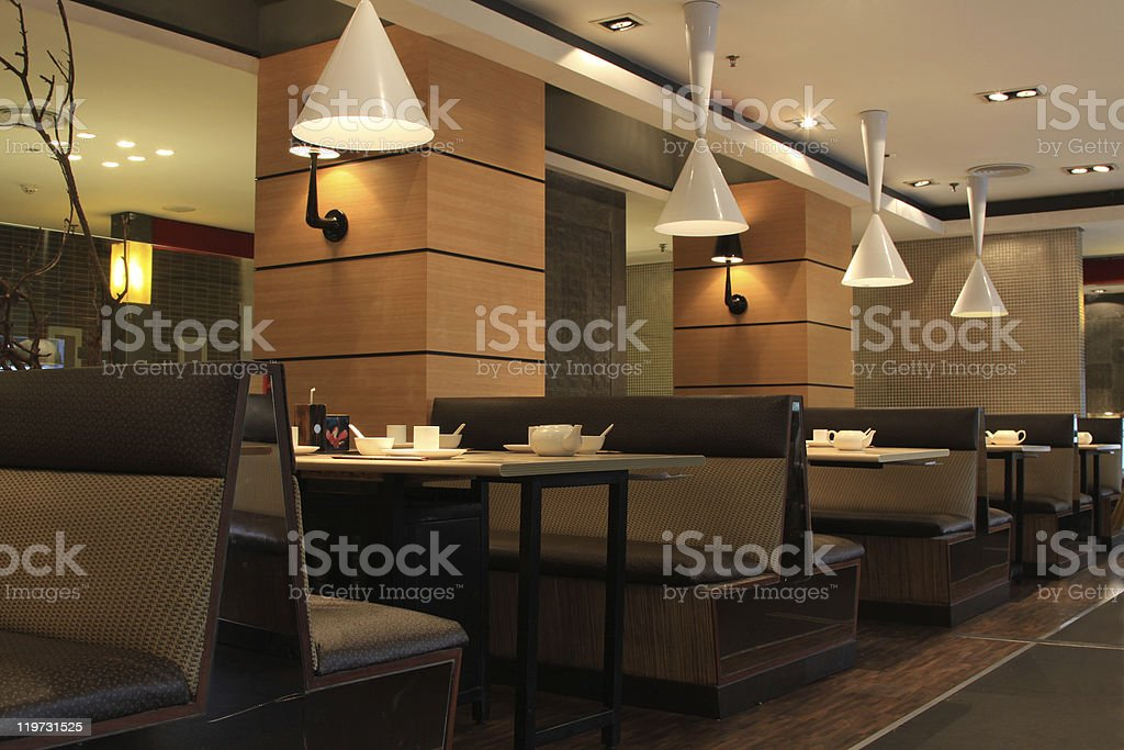 restaurant interior - Royalty-free Arranging Stock Photo