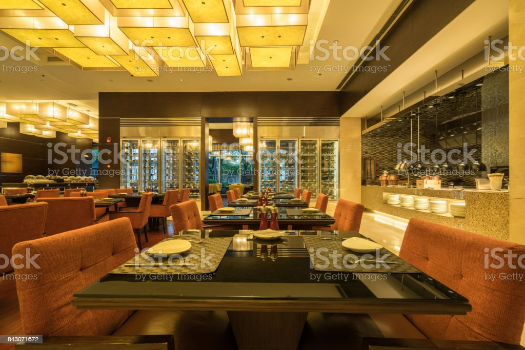Restaurant interior stock photo