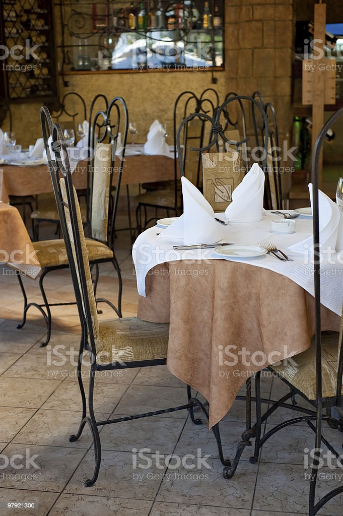 restaurant interior royalty-free stock photo