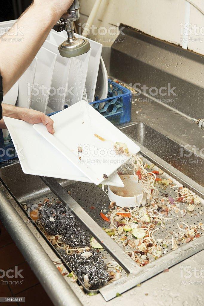 Restaurant Kitchen Dishwasher Prerinse Area stock photo