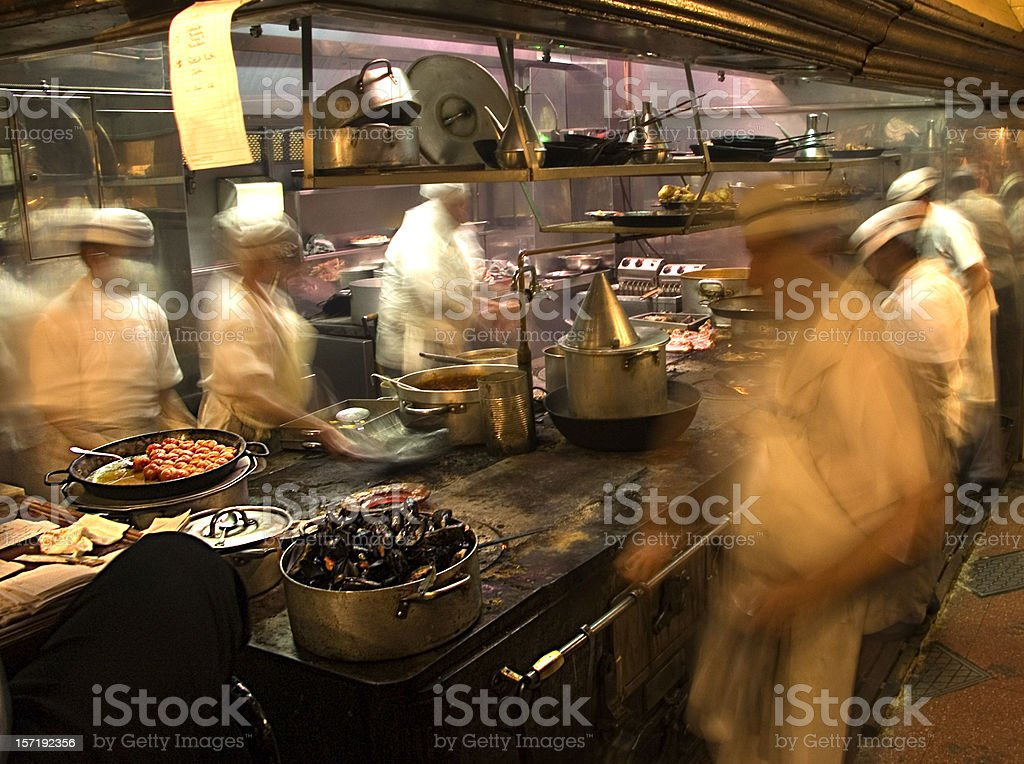 Restaurant Kitchen royalty-free stock photo
