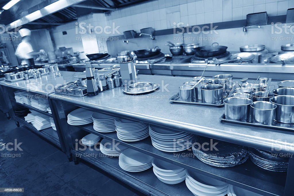 restaurant kitchen stock photo