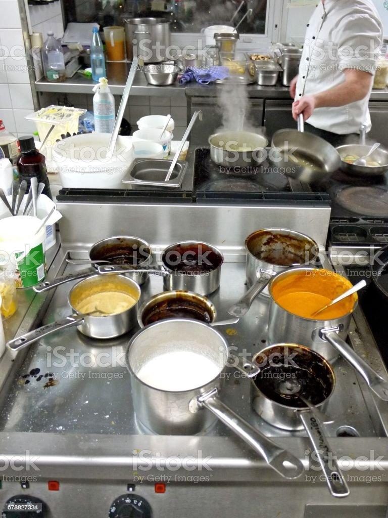 Lokanta mutfağı royalty-free stock photo