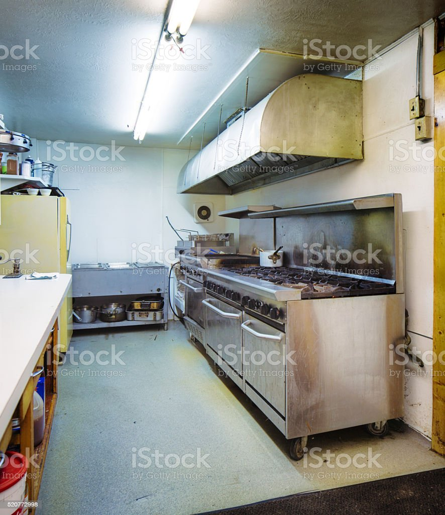 Restaurant Kitchen With Stainless Steel Gas Range Stock Photo Download Image Now Istock